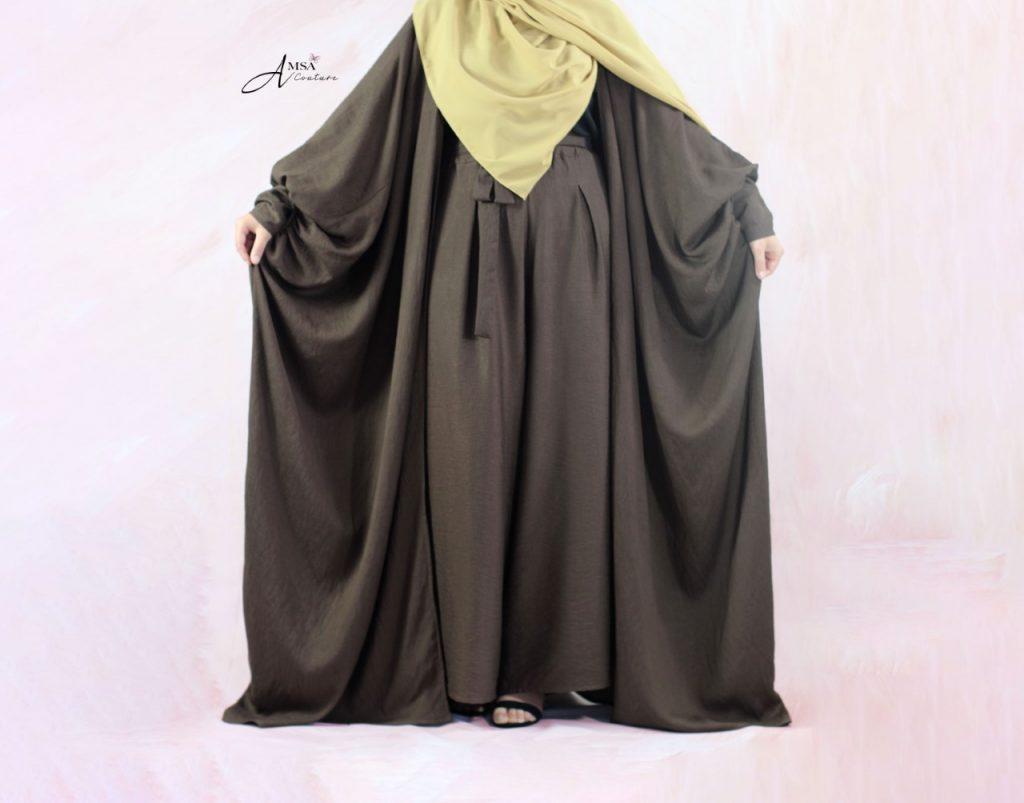 Abaya kimono brun 2
